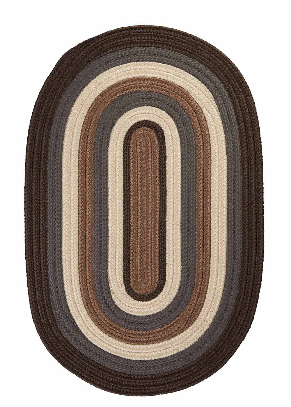 Super Area Rugs 2ft. x 12ft. Oval Indoor/Outdoor Reversible Braided Rug Brownstone Color (2x12) at Sears.com