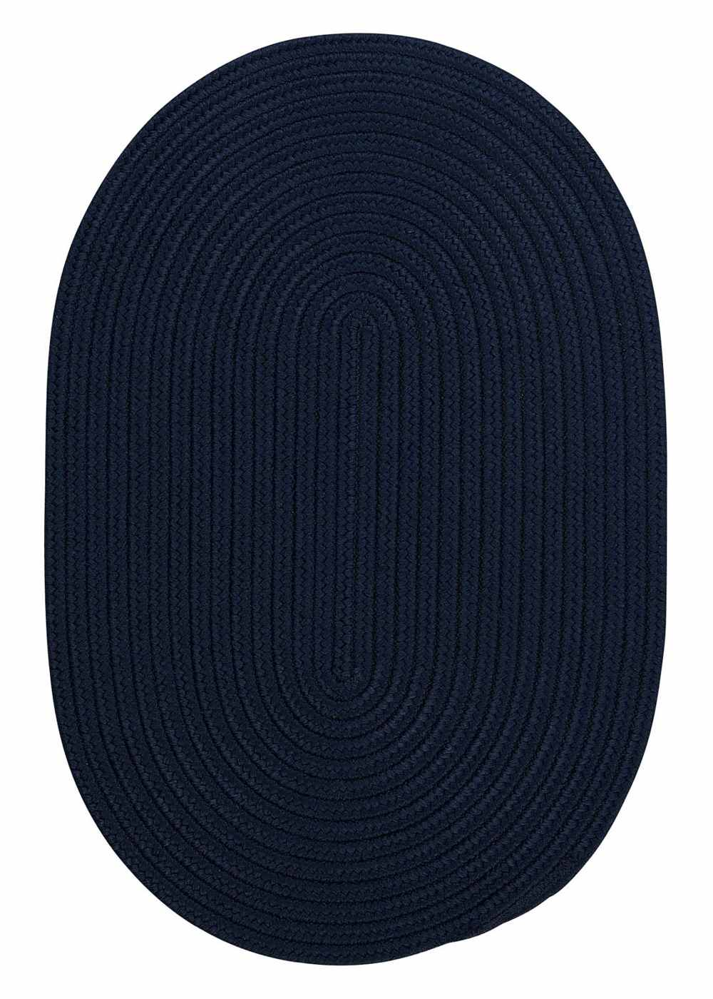 Super Area Rugs 2ft. x 8ft. Oval Indoor/Outdoor Reversible Braided Rug Navy Color (2x8) at Sears.com