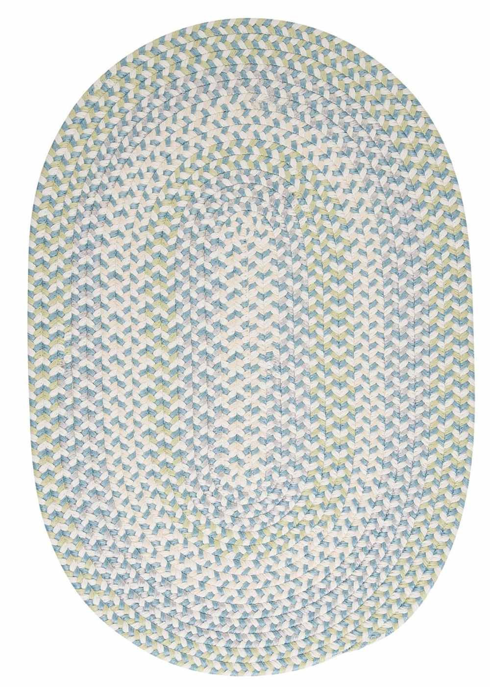Super Area Rugs 8ft. x 11ft. Oval Indoor/Outdoor Reversible Braided Rug Sky High Color (8x11) at Sears.com