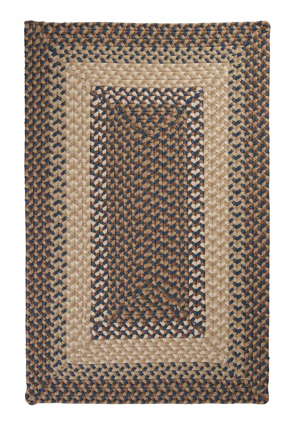 Super Area Rugs 8ft. x 11ft. Indoor/Outdoor Reversible Braided Rug Stone Blue Color (8x11) at Sears.com