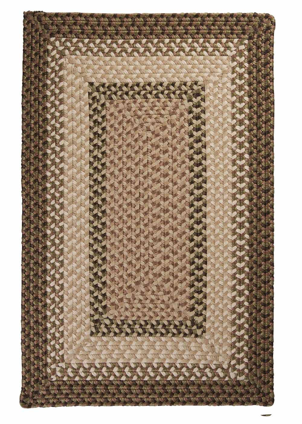 Super Area Rugs 8ft. x 11ft. Indoor/Outdoor Reversible Braided Rug Spruce Green Color (8x11) at Sears.com